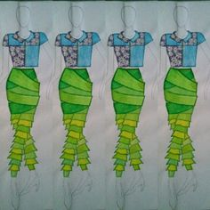 One year ago... #designer #fashiondesign #fashiondesigner #design #spring #daisy #illustration #fashionillustration #stylist #style #fashion