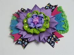 Diy Moños lazos tocados en cinta para el cabello de las niñas: Hair bows...