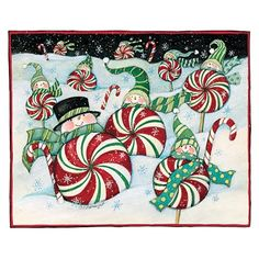 Snowman Candy in the snow from the Snowman Collection