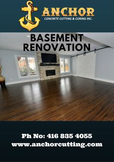 Contact AnchorCutting - well known name in basement renovation services in Brampton, Mississauga, Milton and Oakville. Basement Renovations, Tips, Free, Advice