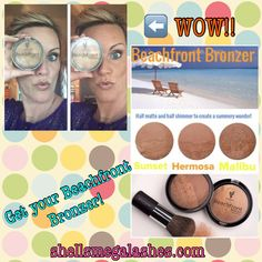 Younique's Beachfront Bronzer is AMAZING! Kissed by the sun is a great look!   Get yours today!  www.shellsmegalashes.com