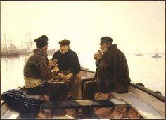 Dionisio Baixeras y Verdaguer (Spanish, 1862–1943), Boatmen of Barcelona, 1886