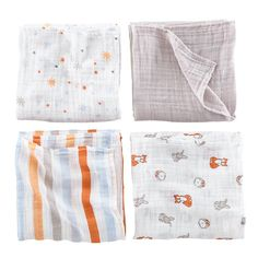 It's a Wrap Swaddling Blanket Set (Forest) in Blankets, Bibs & Burp Cloths | The Land of Nod