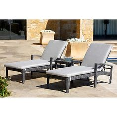 Palm Aire Woven Padded 2 Pack Chaise Lounge Costco 450 For