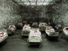 Chiharu Shiota, During Sleep, 2005.