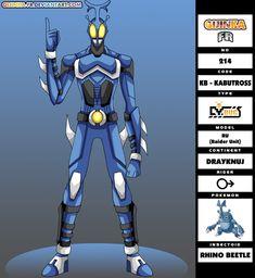 Hunter Pokemon, Pokemon Human Form, Pokemon Gijinka, Fantasy Armor, Pokemon Fusion, Anime Crossover, Celestial, Kamen Rider, Character Art