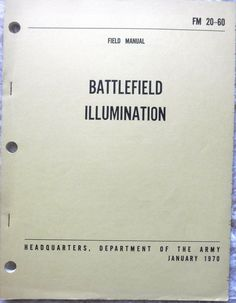 Military Book - Battlefield Illumination  - 1970 - Paperback - Used
