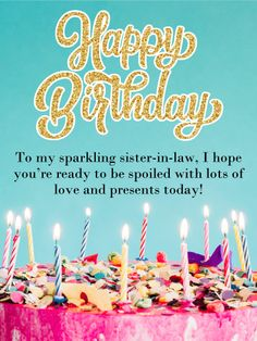 34 Best Birthday Cards For Sister In Law Images