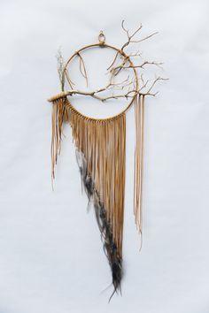 Branch Dreamcatcher - BartonHollow on Etsy https://www.etsy.com/listing/252751867/branch-dreamcatcher-falcon-12-large-gray