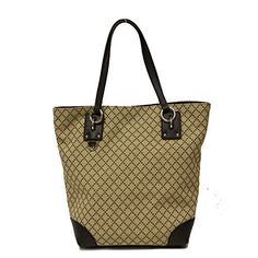 b127b5684949b2 Gucci Diamante Canvas and Leather Medium Business Portfolio Tote Bag # handbag #shoulderbag #Brown