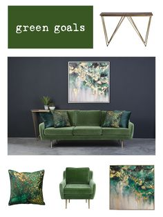 Sofa, Couch, Love Seat, Goals, Green, Furniture, Home Decor, Settee, Settee