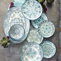 Veracruz Blue Melamine Dinnerware Collection                                                                                                                                                     More