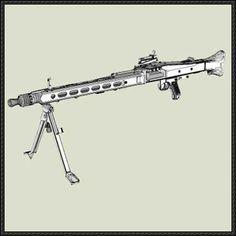 Full Size MG 42 Machine Gun Paper Model Free Template Download - http://www.papercraftsquare.com/full-size-mg-42-machine-gun-paper-model-free-template-download.html