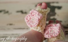 Baby Barefoot Sandals with Flower in Cream by littlebugaboos, $10.00