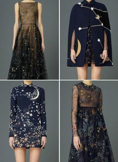 Black wedding gowns space inspired looks for Valentino pre-fall 2015 Look Fashion, Runway Fashion, High Fashion, Womens Fashion, Fashion Design, Space Fashion, Trendy Fashion, Pretty Dresses, Beautiful Dresses