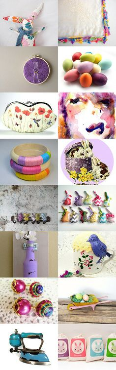 ✿ Bunnies, cHiCks, and EGGS oh my! ✿ by Amy on Etsy--Pinned with TreasuryPin.com Bunnies, Amy, Eggs, Easter, Spring, Pretty, Color, Rabbits, Egg