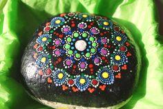 Medium mandala stone by MJArtistryTreasures on Etsy