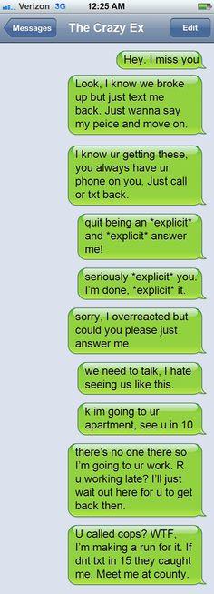 Psycho Girlfriend Text Fails - Likes