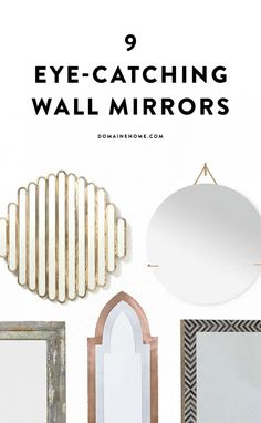 9 eye-catching wall mirrors to spruce up any home