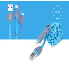 2 in 1 data cable micro usb cable