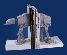 "These scratch my ""inner geek"" itch - at-at bookends"
