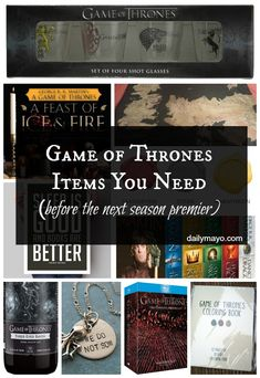 Can't wait for the next season of Game of Thrones? Make sure you have these Game of Thrones items before the season premier!