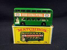 MATCHBOX LESNEY NO.74 DAIMLER BUS, ESSO, GREEN