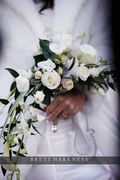 Winter bridal bouquet - image courtesy of Brett Harkness Photography