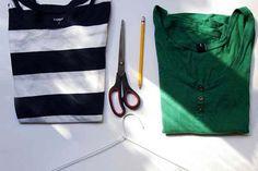 Como reciclar blusas viejas Cut Shirt Designs, Diy Clothes Life Hacks, Avocado Dressing, Sewing Stitches, Cut Shirts, Classic Outfits, Pattern Fashion, Diy And Crafts, Couture