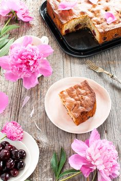Soft cake with cherries - Torta morbida alle ciliegie senza lattosio