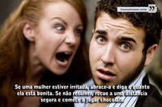 Frases para Facebook - Se uma mulher estiver irritada | Frases com imagens e recados para Facebook