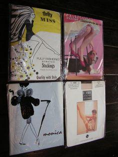 Vintage Stockings Nylons 4 Pairs 1950's 1960's Seamfree Seamed Fully Fashioned by VintageBlackCatz on Etsy