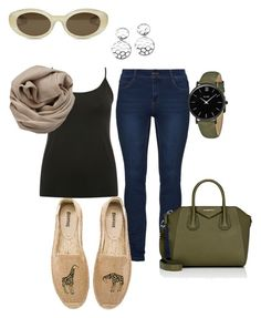 Giraffe by alysonnewman on Polyvore featuring M&Co, Soludos, Givenchy, CLUSE, Brunello Cucinelli and Elizabeth and James