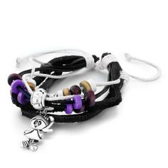 Pugster Double Black Leather Metal Wood Beads On Jute Rope Dangle Cute Little Girl Bracelet Pugster. $10.99. Perfect gift for Christmas. Designed from Sterling Sliver element style. Free Jewerly Box. Free Chain in a matching metal will be included. Money-back Satisfaction Guarantee