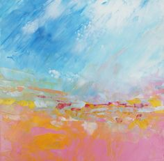 Abstract Landscape 'Sugar Mice' oil painting by MoodscapePaintings, $40.00