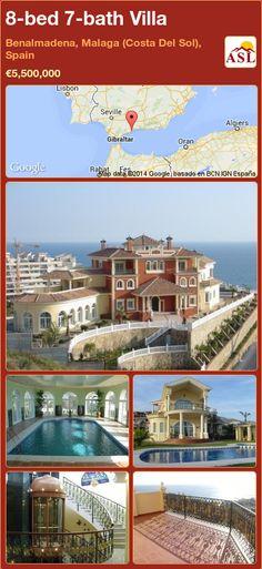 8-bed 7-bath Villa in Benalmadena, Malaga (Costa Del Sol), Spain ►€5,500,000 #PropertyForSaleInSpain