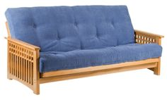 Akino Oak 3 Seat Futon Sofa Bed From Futons247 Beds Delivery Throughout