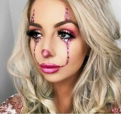 Pin By Andi On Makeup Halloween Makeup Clown Makeup Pretty Halloween Pin By Andi On Makeup Halloween Halloween Makeup Clown, Clown Halloween Costumes, Halloween Looks, Women Clown Costume, Pretty Halloween Makeup, Halloween Hair, Clown Makeup Pretty, Halloween Palette, Fantasy Makeup
