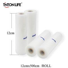 12 cm x 500 cm/Rolle Vakuum Sealer Lebensmittel Schoner Beutel Lagerung Von Lebensmitteln Taschen Saran Wrap