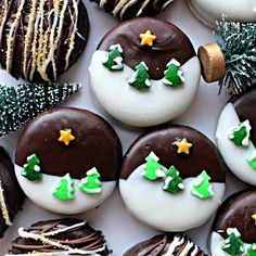 Winter Wonderland Chocolate Dipped Oreos turn simple chocolate sandwich cookies into exceptional treats. Quick and easy using shaped sprinkles. Chocolate Dipped Oreos, Melting White Chocolate, Chocolate Coating, Dipping Chocolate, Chocolate Tarts, Oreo Pops, Holiday Baking, Christmas Baking, Cookies
