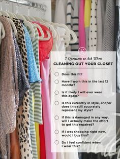 Questions to Ask When Cleaning Out Your Closet | The Everygirl
