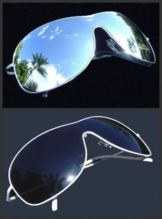 2 Pairs Of One Piece Lens Mens Womens White and Silver Aviator Sunglasses UV400 #Aviator #Sunglasses
