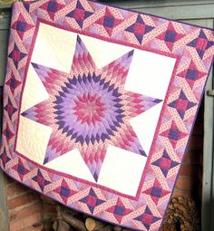 While checking out the dates for the Fall Quilt Festival in Houston, I clicked this link to see the quilt block that astronaut, Karen Nyberg. Lone Star Quilt, Star Quilts, Quilt Blocks, Summer Quilts, Fall Quilts, Seminole Patchwork, Star Blanket, Purple Quilts, Star Quilt Patterns