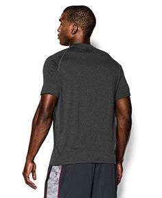 Mens UA TechTM Shortsleeve T-Shirt Tops by Under Armour Large Carbon Heather black Large
