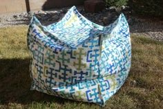 DIY Beanbag Chair. @Kendra Henseler Sawyer I want to make this for you! Use all those packing peanuts. I might be able to make 2!