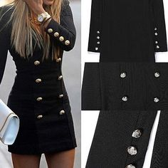 WOMEN'S LONG SLEEVE BODYCON EVENING PARTY COCKTAIL SHORT MINI DRESS IDEAL