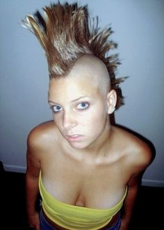 Female Mohawk, Mohawks, Mohawk Hairstyles, Close Shave, Shaved Sides, Undercut, Dares, Kinky, Shaving