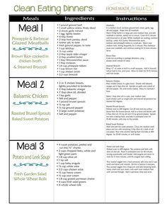 Clean Eating Meal Plan - Homemade for Elle