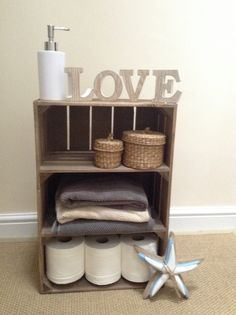 Our rustic wooden apple crates with 2 internal shelves make a versatile storage solution for any room in the house.