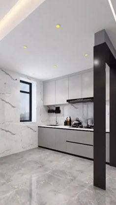 Small House Interior Design, Luxury Kitchen Design, Small Room Design, Interior Design Kitchen, Modern House Design, Kitchen Pantry Design, Kitchen Layout, Kitchen Storage, Kitchen Ideas